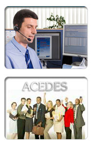 acedes technical support and team of sales, designers andengineers
